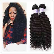 "3Pcs/Lot 8""-34"" Brazilian Deep Wave Virin Hair #1B 300G Deep Wave Hair Brazilian Hair Weft Weaves Hair Extensions"