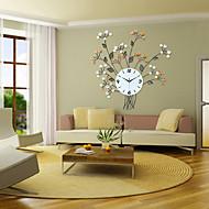 Floral Design Iron Wall Clock