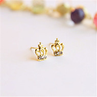 Cute/Casual Gold Plated Stud Earrings