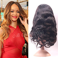 Ali Queen Brazilian Virgin Hair Body WaveHuman Hair Lace Front Wig  For Black Women 130% Density Free Shipping