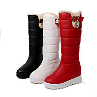 Women's Shoes Platform Snow Boots/Round Toe Boots Dress Black/Red/White