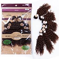 evet 6a peruanska lockigt hår # 4 6pcs 200g parti kinky lockigt jungfru hår obearbetade peruanska kinky lockigt väva människohår