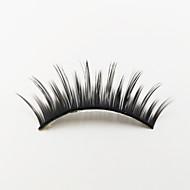 1 Eyelashes lash Full Strip Lashes Eyes Machine Made Fiber Black Band 0.05mm 12mm