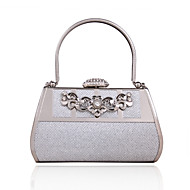 Faux Leather/Metal - Evening Handbags/Bruidstasje ( Zilver , Crystal/ Rhinestone/Metal