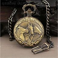 Men's  Watch with three  horse's head Pattern Alloy Analog Quartz Pocket Watch Cool Watch Unique Watch