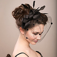 2015Women's Lace/Feather/Tulle Headpiece - Wedding/Special Occasion Fascinators 1 PieceHA5082