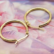 Women's Classic Elegant Gold Plated Hoop Jewelry Earrings