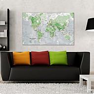 fluorescerende 60x86cm Vægoverføringsbilleder romantik lysende verdenskort wall stickers