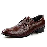 Men's Shoes Office & Career/Party & Evening/Casual Fashion PU Leather Oxfords Shoes Black/Brown 38-44