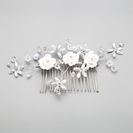 Women/Flower Girl Alloy/Imitation Pearl Hair Combs With Crystal/Imitation Pearl/Rhinestone Wedding/Party Headpiece