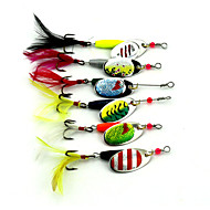 "6 pcs Hard Bait / Fishing Lures Spoons / Buzzbait & Spinnerbait Multicolored 7.8 g/1/4 oz. Ounce,50 mm/2"" inch,MetalSea Fishing / Lure"