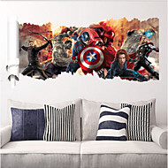 2015 New ZooYoo ®1457 Popular Super Hero Wall Decal GiftAvengers Movie Character Stickers