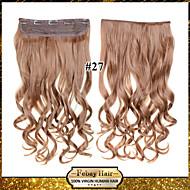 Barva 24inch 60cm 120g 27 # klip na prodlužování vlasů vlnitý klip na příčesky