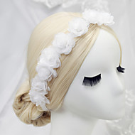 Women's / Flower Girl's Polyester Headpiece - Wedding / Special Occasion Wreaths 1 Piece