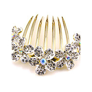 Korean Style Plum Blossom Alloy Hot Sale Hair Comb (Randon Color)(1Pc)