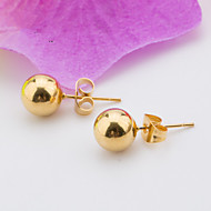 Women's Fashion Elegant Gold Plated Stainless Steel Spherical Earring