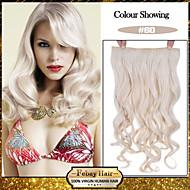 5 קליפים גליים 60 # קליפ שיער סינטטי בתוספות שיער לנשים יותר צבעים זמינים