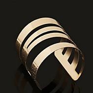 European Style Open Alloy Bangle Bracelet(Gold)(1Pc)