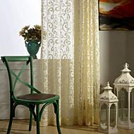המדינה curtains® וילון וילון שקוף אקארד פרחי פנל אחד