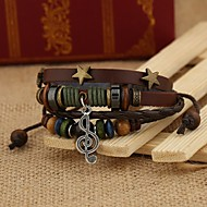Vintage Style Genuine Leather Foreign Trade Hot Sales Bracelet(Brown)(1Pc)