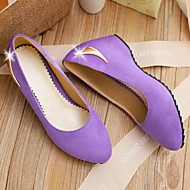Women's Shoes Faux Leather Low Heel Heels Pumps/Heels Office & Career/Casual Black/Purple/Red/Beige