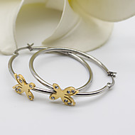 Women's Fashion Exquisite Gold Plated and Silver butterfly Earring with Rhinestone