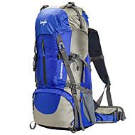 60 L Tourenrucksäcke/Rucksack Camping & Wandern / Klettern Outdoor Wasserdicht / Regendicht / tragbar / MultifunktionsRot / Schwarz /