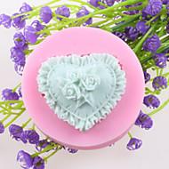 Heart-shaped Flowers Fondant Cake Chocolate Silicone Molds,Decoration Tools Bakeware