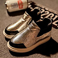 Baby Shoes Outdoor/Casual Faux Leather Boots Silver/Gold