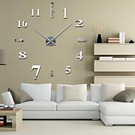 "Uermerstar 39""W DIY 3D Mirror Large Numbers Acrylic Sticker Wall Clocks Art Modern Style"