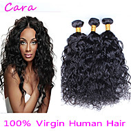 3pcs Lot 6A Unprocessed Brazilian Virgin Hair Water Wave  Human Hair Extensions Natural Black Hair Weaves