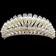 Celada Tiaras Boda Rhinestone/Aleación/Perla Artificial Mujer Boda 1 Pieza