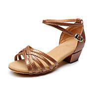 Sapatos de Dança ( Castanho ) - Feminino / Infantil - Não Personalizável - Latina