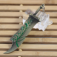 Fashion Jewelry Alloy Retro Animation Cosplay League of Legends  Riven's Weapon Pendant Key Chain Key Ring Key Buckle