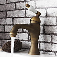 American Standard Centerset Single Handle One Hole in Antique Brass Bathroom Sink Faucet