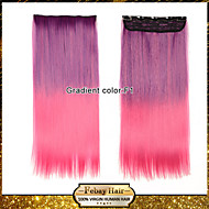 colorful 110g Clip on Hairpieces Synthetic Hair Extensions