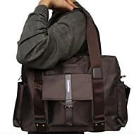 Men 's Polyester Weekend Bag Shoulder Bag - Brown/Black