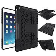 Pentru Carcase Huse Anti Șoc Cu Stand Carcasă Spate Maska Culoare solida Greu Silicon pentru Apple iPad (2017) iPad Air 2 iPad Air
