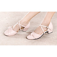 Non Customizable Kids' Dance Shoes Modern Leatherette Low Heel Pink