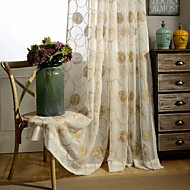 Country Curtains® One Panel Ivory Floral Embroidered Sheer Curtain Drape