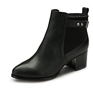 Aokang Women's Shoes Leather Chunky Heel Fashion Boots/Comfort/Round Toe/Closed Toe Boots Outdoor/Office & Career/Casual