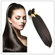 3Pcs/Lot Brazilian Human Hair Bulk In Natural Black Virgin Straight Bulk Hair Extensions No Shedding Cheap Hair Bulk