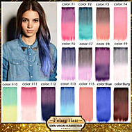 16 colors available fantastic Clip in Straight Hair Extension Synthetic Hairpiece for All Saints' Day