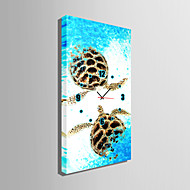 E-HOME® Turtle on The Beach Clock in Canvas 1pcs