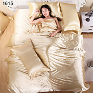 Bed Linen Satin Textile Silk Chinese Silk Bedding Set Red Wedding Sets Bedsheet Pillowcase