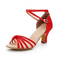 Women's Satin Ankle Strap Latin / Ballroom Dance Shoes With Ruched (More Colors)