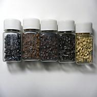 1000 komada mikro silikonskih prstenova / linkovi perle 5colours za ljudske kose produžetak