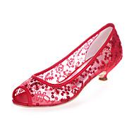 Sandály - Krajka - S otevřenou špičkou - Dámská obuv - Černá / Modrá / Růžová / Červená / Slonovinová / Bílá / Zlatá - Svatba / Party -