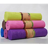 Tapis de Yoga ( Rouge/Vert/Pourpre foncé , PVC ) 8.0