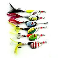 """7 יח ' פתיונות מסתובבים פתיונות דיג פתיונות דיג ופתיונות באז וספינר צפרדע מבחר צבעים g/אונקיה mm/2-5/8"""" אינץ ',מתכת דיג בפתיון"""